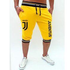 Pkorli Juventus Shorts Men Leisure Men S Calf-Length Fitness Bodybuilding Short Pants Fitness Homme Outwear Shorts-ivroe Mens Yellow Pants, Yellow Shorts, White Pants, Dandy, Fitness Bodybuilding, Mens Sweatpants, Cute Comfy Outfits, Pants Pattern, Ripped Shorts
