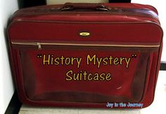Have suitcase with ideas from a certain event or era in theme and bring them out during that unit/lesson!