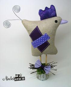 Osterdeko - Huhn im Tilda Stil für Ostern & Frühling - ein Designerstück von…