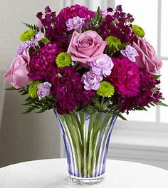The Timeless Traditions™ Bouquet by FTD® brings together roses, stock and carnations to create the perfect flower bouquet for your special recipient. Eye-catching lavender roses bloom brilliantly amon