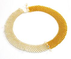 Free pattern for necklace Gold Click on link to get pattern - http://beadsmagic.com/?p=5918