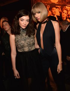 Taylor Swift and Lorde attend the 2016 Vanity Fair Oscar Party 02.28.16