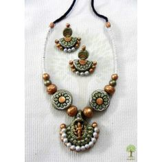 Terracotta Jewellery  - Laxmi Gold 2  https://www.facebook.com/maitricrafts.maitri https://www.facebook.com/maitricrafts. maitri_crafts@yahoo.com