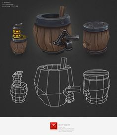 hand painted 3d model lantern - Google Search