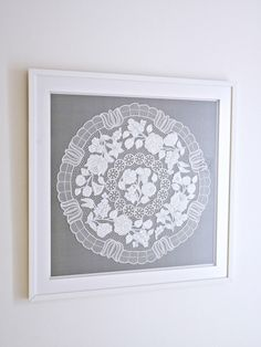 How to Frame Hungarian Embroidery or Doily for a Modern Look | Dans le Lakehouse