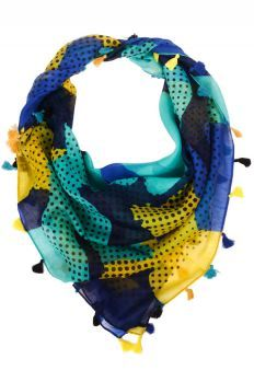 Naomi Dot Scarf- love the colors and benday dots