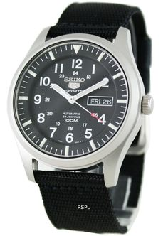 0d6452d9651 Seiko 5 Mens Automatic 100M SNZG15K1 SNZG15 Sports Watch Stylish Watches,  Watches For Men,