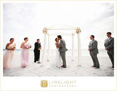 Wedding Day, Ceremony, Bride and Groom, Wedding photography, Beach wedding, Pink, white, Hotel wedding, The Ritz-Carlton, Sarasota, Limelight Photography, www.stepintothelimelight.com