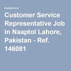 online customer service representative job description