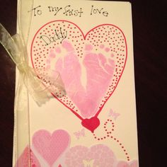 Baby to daddy Valentines Card