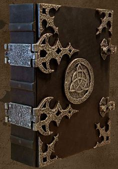 Brahm's Bookworks Crafts the finest quality Book of Shadows and Grimoires. Leather Bound Journal, Leather Bound Books, Medieval Books, Grimoire Book, Cool Books, Book Of Shadows, Magic Book, Handmade Books, Book Binding