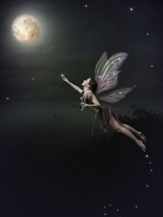 She sprinkled the sky and the moon with fairy dust to make time stand still..