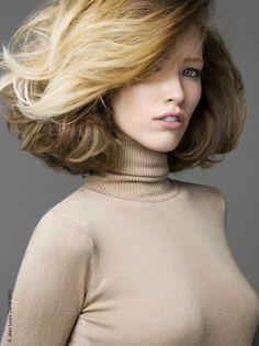 Coiffure cheveux mi-longs automne hiver 2012 © Jean-Louis David