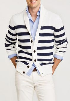 on the right guy it doesn't look so preppy   Amazing Men's Combination with Perfect Sweater for This Spring