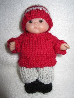 Berenguer Baby Doll Sweater & Pants Set hand knit doll by WeGirls, $12.00