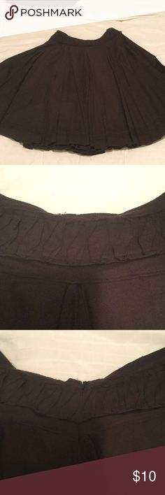 A-line rockabilly style black skirt 10 Very full A-line skirt pleated. Zipper back. Definitely rockabilly style. Size 10 black top shop Skirts A-Line or Full