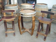 How to Select Wine Barrel Furniture Wine Barrel Chairs, Wine Barrel Furniture, Barrel Projects, Wood Projects, Unique Furniture, Furniture Making, Barris, Wine Decor, Recycled Wood