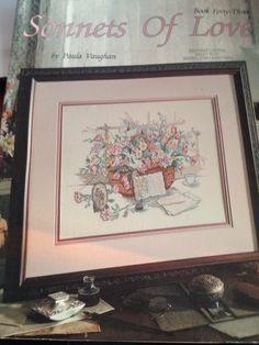 Paula Vaughan Sonnets Of Love Cross Stitch Pattern Book 43 LA 2107  Letters