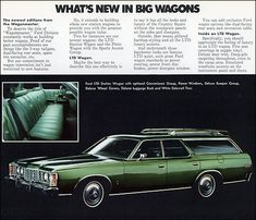 1973 Ford LTD Station Wagon Retro Cars, Vintage Cars, Vintage Auto, Ford Ltd, Learning To Drive, Ford Classic Cars, Us Cars, Car Shop, Ford Motor Company