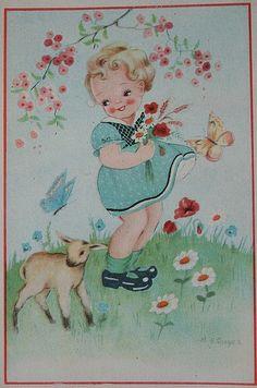 vintage postcard by Hoola Tallulah, via Flickr