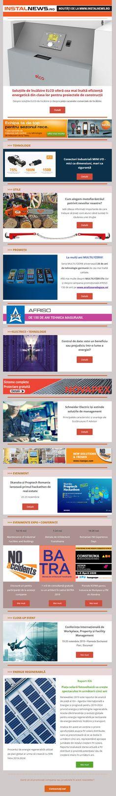 Newsletter InstalNews nr. 165, Noiembrie 2019 Web Design, Branding, Construction, Building, Design Web, Brand Management, Identity Branding, Website Designs, Site Design