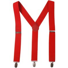 BODY STRENTH Mens Women Suspenders Strong Clips Braces Y Shape Wide... ($8.99) ❤ liked on Polyvore featuring men's fashion, men's accessories, suspenders, mens suspenders and mens red suspenders