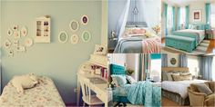 Resultado de imagem para quarto feminino azul turquesa tumblr