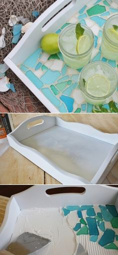 DIY Glass Tray