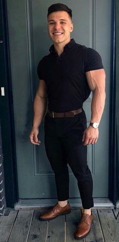 Fitness Hombres Muscle Mens Fashion Ideas For 2019 Stylish Men, Men Casual, Mens Fashion Wear, Men's Fashion, Muscular Men, Mens Clothing Styles, Men Dress, Sexy Men, Cool Style