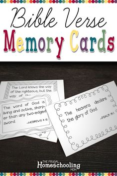 These FREE Bible verse memory cards for kids will help your children memorize scripture. Includes 12 favorite bible verses for kids. Memory Verses For Kids, Bible Verses For Kids, Bible Study For Kids, Verses For Cards, Printable Bible Verses, Bible Lessons For Kids, Scripture Verses, Bible Verse Memorization, Free Bible