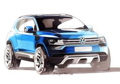 Volkswagen Taigun Concept - Design Sketch