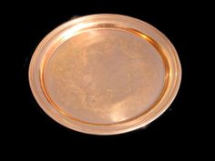Vintage Copper Serving Tray Etched Copperware by EclecticVintager SOLD