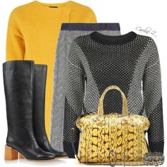 A fashion look from October 2014 featuring Black Fleece skirts, See by Chloé shoes and Fendi tote bags. Browse and shop related looks.