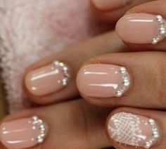 wedding nail for short nails Wedding Nail Designs Ideas