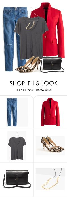 """Bohemian red"" by villasba ❤ liked on Polyvore featuring J.Crew and Madewell"