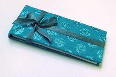 Handmade pocket-sized blue sketchbook  - The Sketchbook Artist  - Kim Jenkins