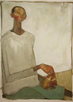 BOY EATING BREAD, Olivia Pendergast (born in Florida; based in Seattle, WA) aka Holly Mae (Holly is her initial name).