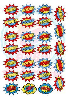 DIY - tag de doces e canudos - tema super heros