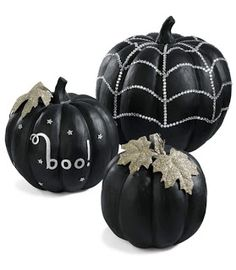 DIY Halloween Decor: Sequined Pumpkins