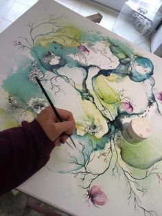 Abstrakt maleri / Abstract painting - the process Art by Rikke Darling www.rikkedarling.dk #contemporaryart #contemporary #artwork #modernart #fineart #malerier #abstrakt #maleri #kunst #art #arte #artgallery #artwork #gallery #galleri #galleries #københavn #abstract #painting #fineart #darling #rikke #farverigt #moderne #lyst #copenhagen #abstrakte