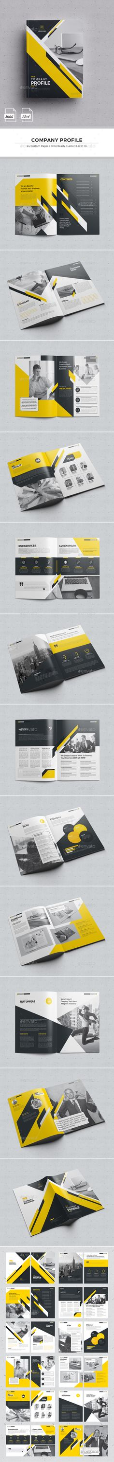 Company Profile — InDesign INDD #informational • Download ➝ https://graphicriver.net/item/company-profile/18792854?ref=pxcr
