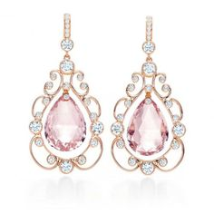 Tiffany and co earrings- so delicate, pink, and beautiful