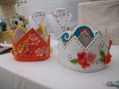 Felt crowns by RaqAttack, via Flickr