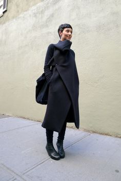 Dina Chang in Damir Doma and Rick Owens. A woman that can cover up and still look extremely sexy!