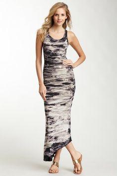 Tie Dye Asymmetrical Maxi Dress