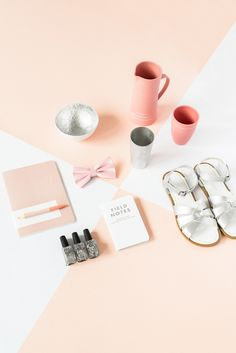 Flatlay Inspiration · via Custom Scene The Design Files Christmas Gift Guide, Styling by Marsha Golemac, Photography by Brooke Holm