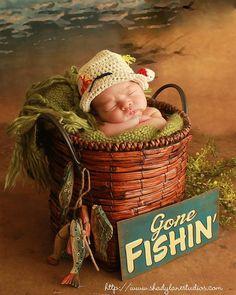 Boy Hat Fishing Hat Newborn Fishing Hat Photography by Oliviella, $20.00