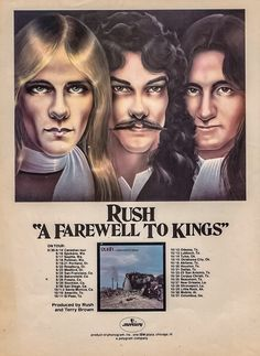 Rush-A Farewell To Kings Tour Poster..........