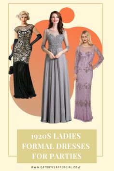 Looking for the perfect 1920s formal dresses & outfits for your next event or party? Looking no further - you will love all our glamorous 1920s Ladies dresses! Click to see them all 1920s Formal Dresses, Great Gatsby Dresses, 20s Dresses, Ladies Dresses, Formal Dresses For Women, Dress Outfits, Bridesmaid Dresses, Wedding Dresses, 20s Fashion