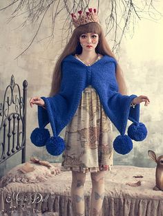 Crocheted shawl wool ball - thick knitted Cloak - and - Witch hooded sweater…